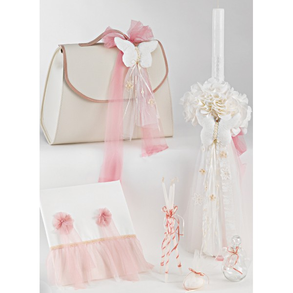Complete baptism set BABY GIRL Orthodox church christening BUTTERFLY