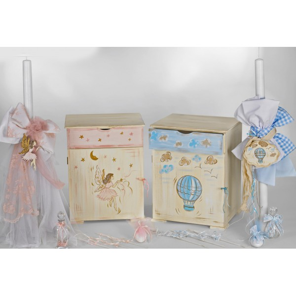Complete baptism FAIRY AIR BALLOON set BABY BOY GIRL Orthodox
