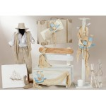 Complete baptism SAILBOAT MARINE set BABY BOY Orthodox christening