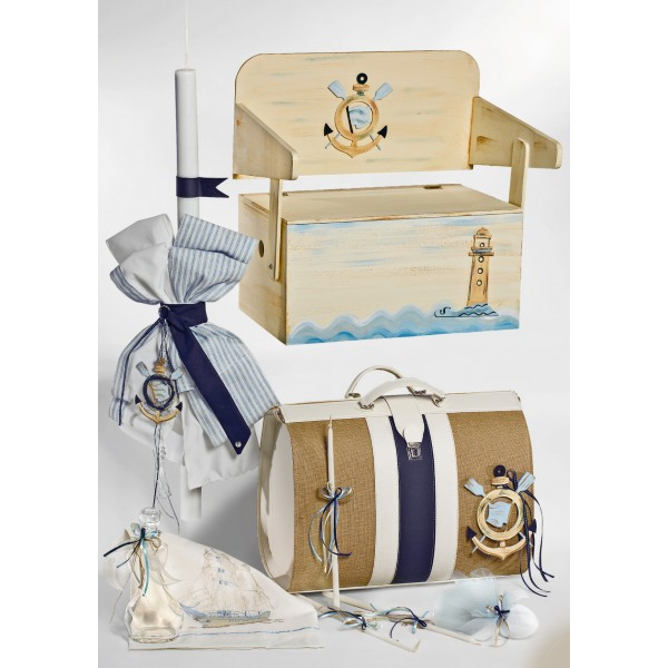 Complete baptism set BABY BOY Orthodox church christening ANCHOR