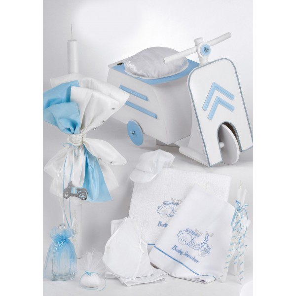 Complete baptism set BABY BOY Orthodox church christening SCOOTER