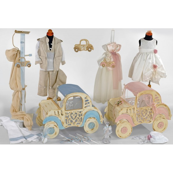 Complete baptism ANTIQUE CAR set BABY BOY GIRL Orthodox church