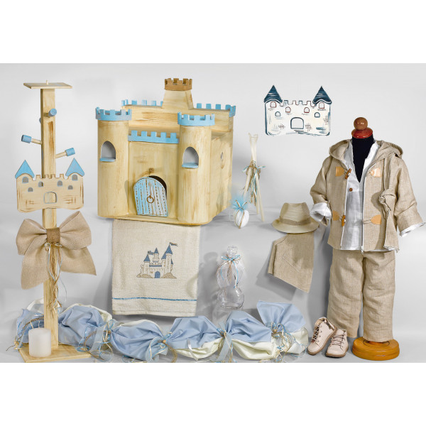 Complete baptism CASTLE set BABY BOY Orthodox church christening