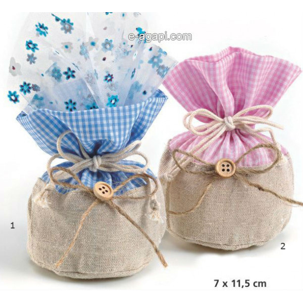 Baptism favors for boys and girls Rustic baby shower favors Greek baptism pouch