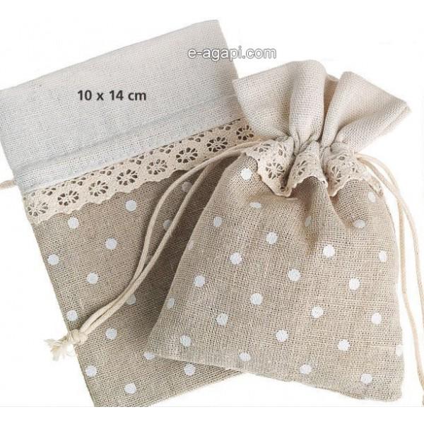 Baptism favors for girls Summer baby shower bourlap pouch favors