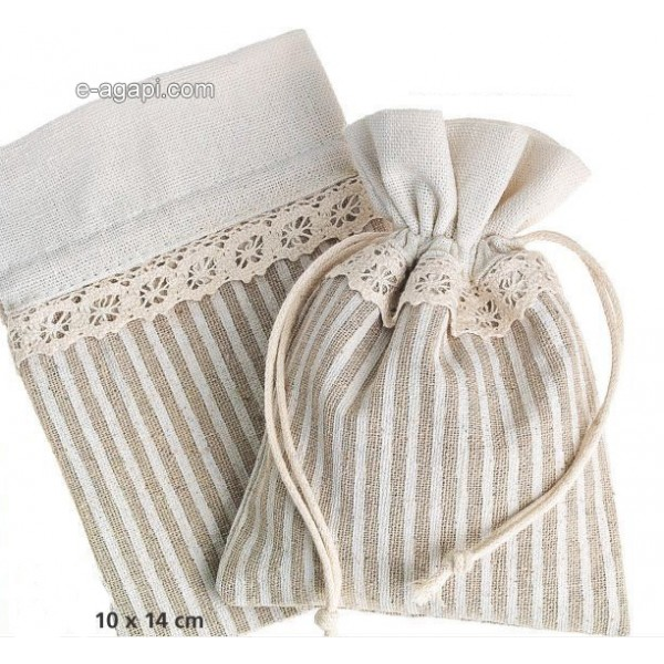 Baptism favors for boys and girls Summer baby shower burlap pouch favors