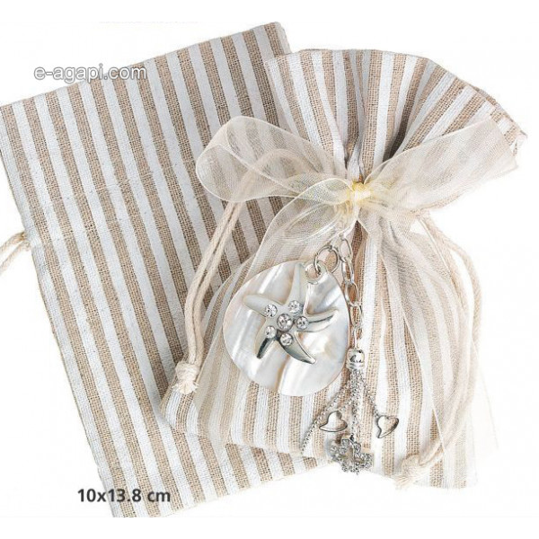 Baptism favors for boys and girls Summer unique burlap pouch favors