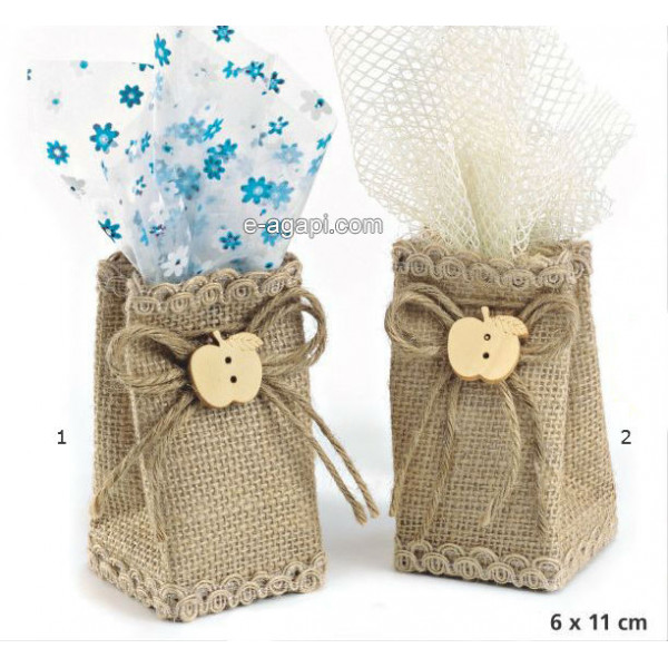 Baptism favors for boys and girls Autumn unique baby shower burlap bag favors