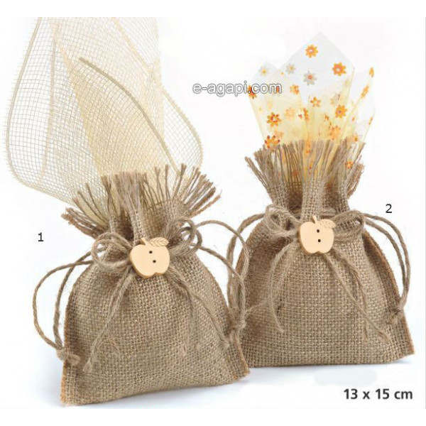 Baptism favors for boys and girls Autumn christening baby shower pouch favors