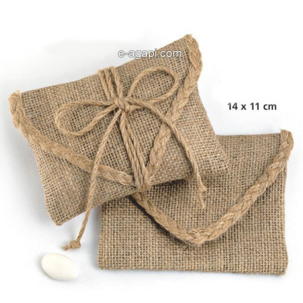 Baptism favors for boys and girls Burlap baby shower envelope favors