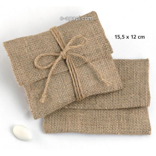 Baptism favors for boys and girls Burlap baby shower favors envelope