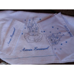 Ladopana baby boy baptism orthodox towel set CASTLE Personalized - 6 pieces