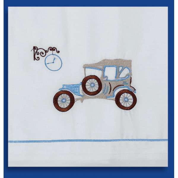 Ladopana baby boy baptism orthodox towel set VINTAGE CAR Personalized - 6 pieces
