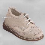 Baby boy shoes  - Oxford shoes - Toddler leather shoes - size 4-9 US - EU 19-25 - Ecru