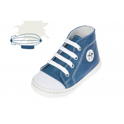 Baby boy shoes Leather Toddler sneakers greek baptism shoes Blue color