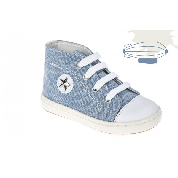 Baby boy shoes Denim Toddler sneakers Baby blue shoes