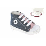 Baby boy shoes - Denim - Toddler sneakers - size 4-9 US - EU 19-25 - Blue