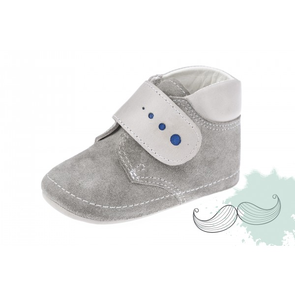 Baby boy shoes crib shoes Toddler leather shoes Grey baptism shoes