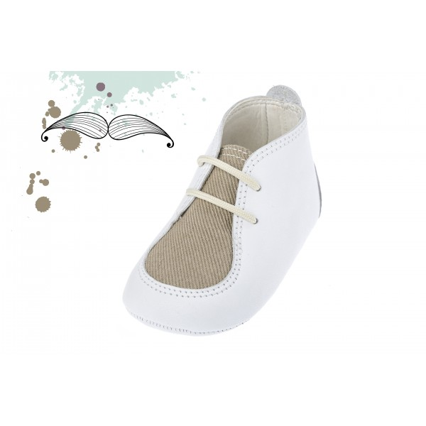 Baby boy shoes crib shoes Toddler leather shoes White baptism shoes