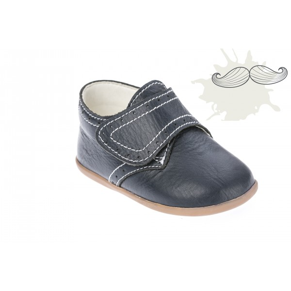 Baby boy shoes velcro shoes Toddler leather shoes Black baptism shoes