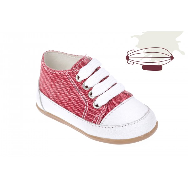 Baby boy shoes sneakers Toddler denim shoes Red baptism shoes