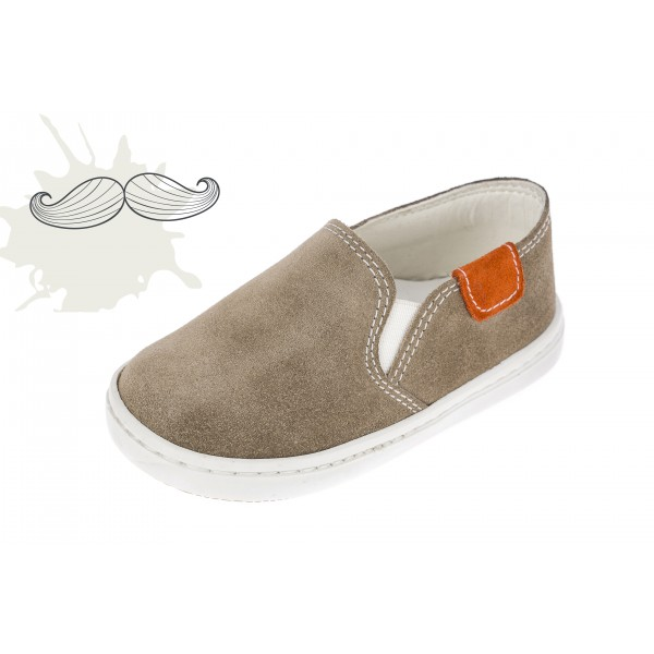 Baby boy shoes loafers shoes Toddler leather shoes Brown suede baptism shoes
