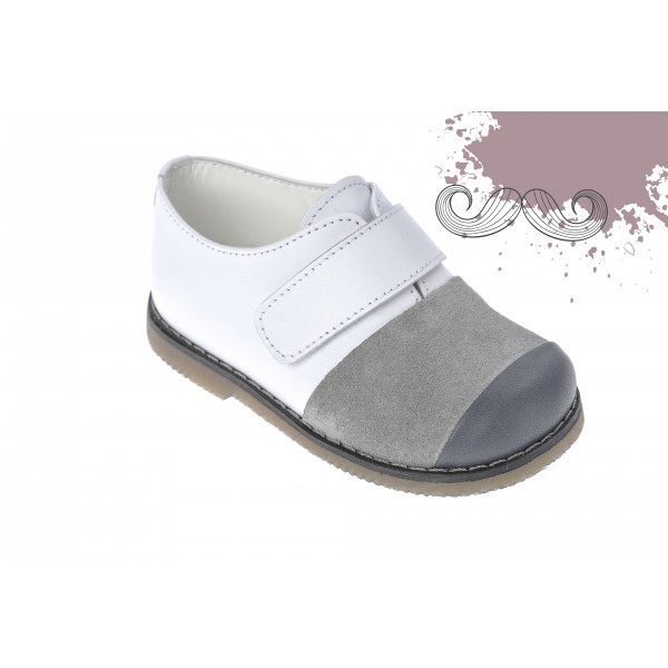 Baby boy shoes velcro shoes Toddler leather shoes White grey black baptism shoes