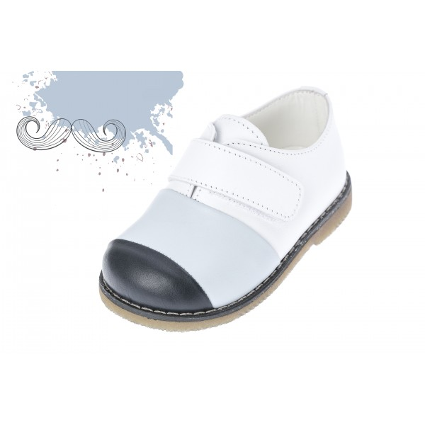 Baby boy shoes velcro shoes Toddler leather shoes White black baptism shoes