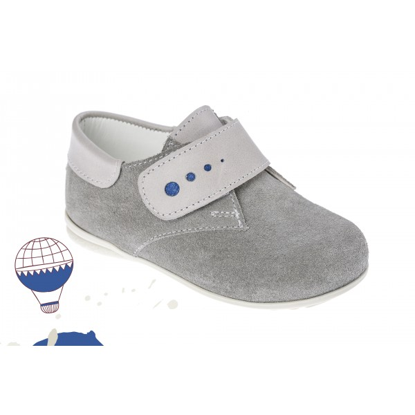 Baby boy shoes velcro shoes Toddler leather shoes Grey baptism shoes