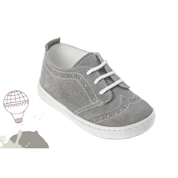 Baby boy shoes Wingtip shoes Toddler leather shoes Grey baptism shoes