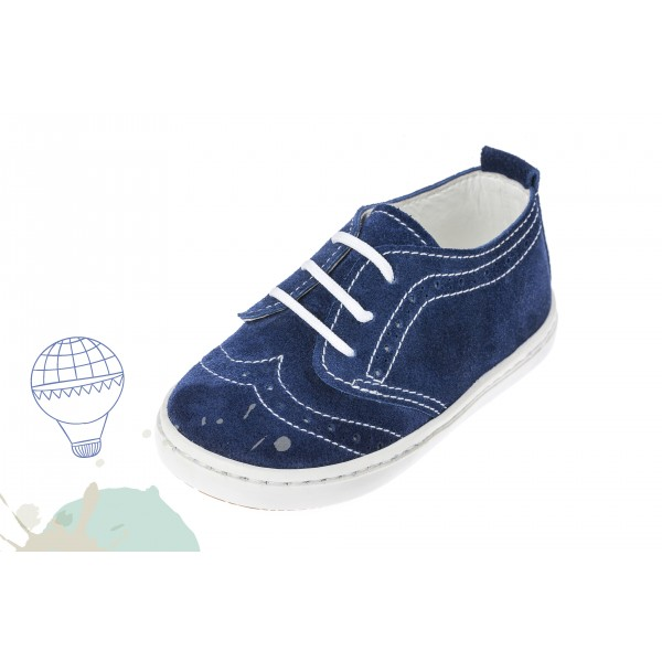 Baby boy shoes Wingtip shoes Toddler leather shoes Navy Blue baptism shoes
