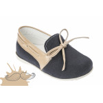 Baby boy shoes Loafers shoes Toddler leather shoes Navy blue  baptism shoes