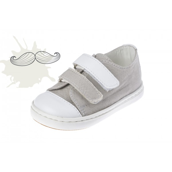 Baby boy shoes Velcro shoes Toddler leather shoes light Grey baptism shoes