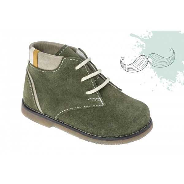 Baby boy shoes Booties shoes Toddler leather shoes  Green baptism shoes