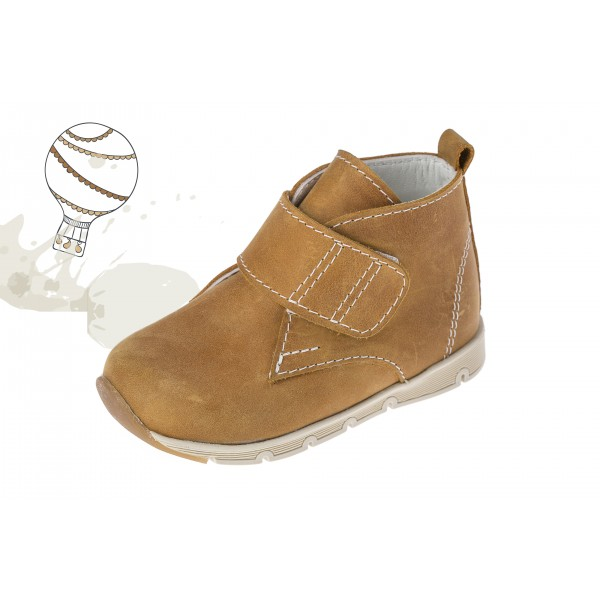 Baby boy shoes Velcro shoes Toddler leather shoes Ochre baptism shoes