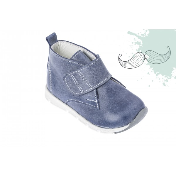 Baby boy shoes Velcro shoes Toddler leather shoes air Blue baptism shoes