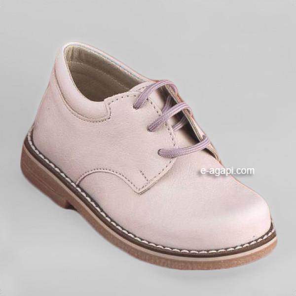 Baby boy shoes  - Toddler leather shoes - size 4-9 US - EU 19-25 - Ecru