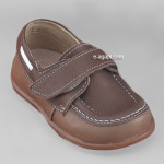 Baby boy shoes  - Toddler leather shoes - size 4-9 US - EU 19-25 - Brown