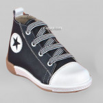 Baby boy shoes  - Toddler leather shoes - size 4-9 US - EU 19-25 - Blue White