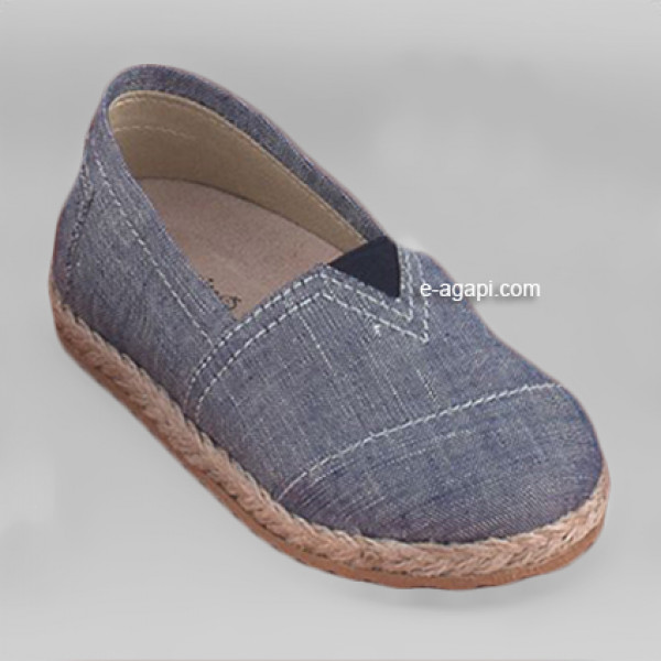 Baby boy shoes - Espadrilles - Toddler first steps shoes - size 4-9 US - EU 19-25 - Denim
