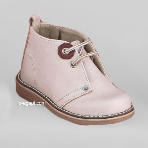 Baby boy shoes - Chukkas- Toddler leather shoes - size 4-9 US - EU 19-25 - Ecru