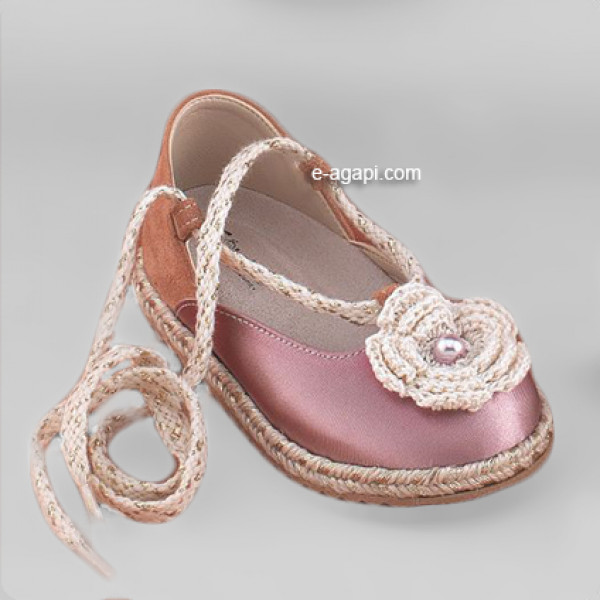 Baby girl shoes Espadrilles Toddler leather shoes Pink baptism shoes