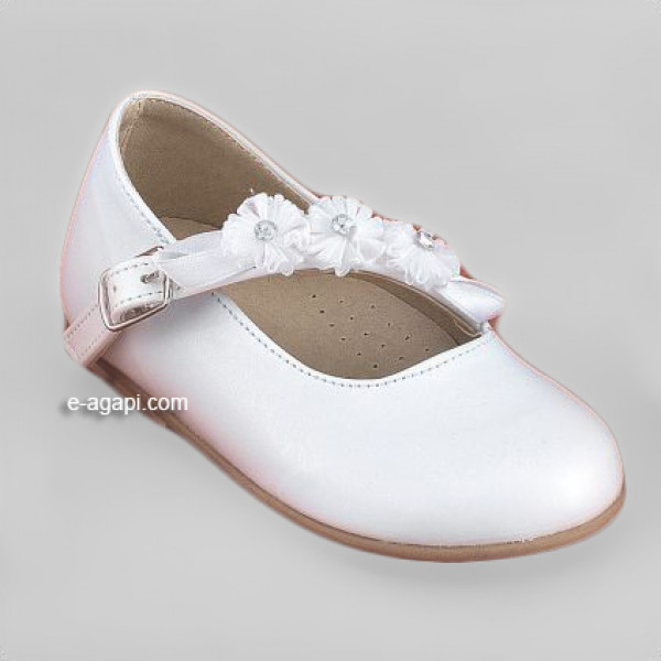 Baby girl shoes - Wedding shoes - Toddler leather shoes - size 4-9 US - EU 19-25 - White