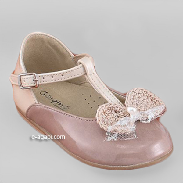 Baby girl shoes Flowergirl shoes Toddler leather shoes Ecru Vintage pink