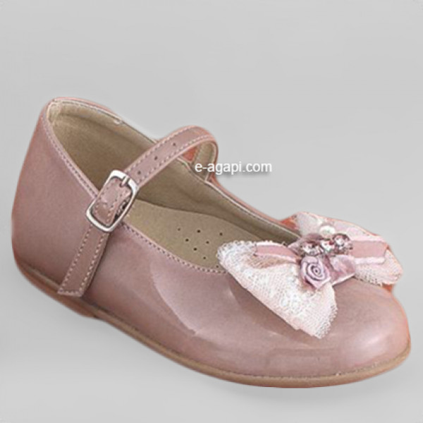 Baby girl shoes - Baptism - Toddler wedding shoes - size 4-9 US - EU 19-25 - Beige