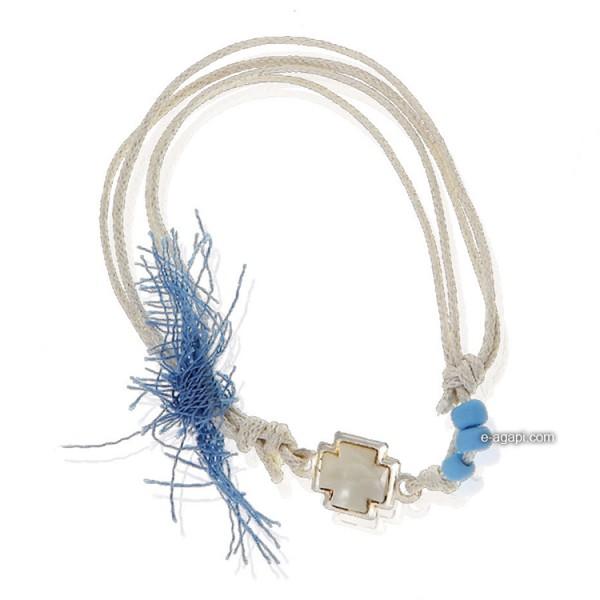 Baptism favors Greek martyrika cross witness bracelets for boys mother of pearl cross