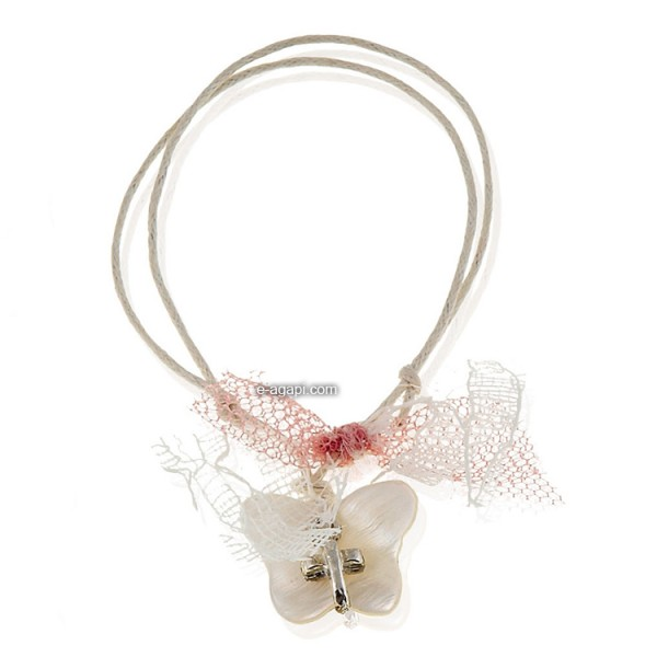 Baptism favors Greek martyrika cross witness bracelets for girls with butterfly