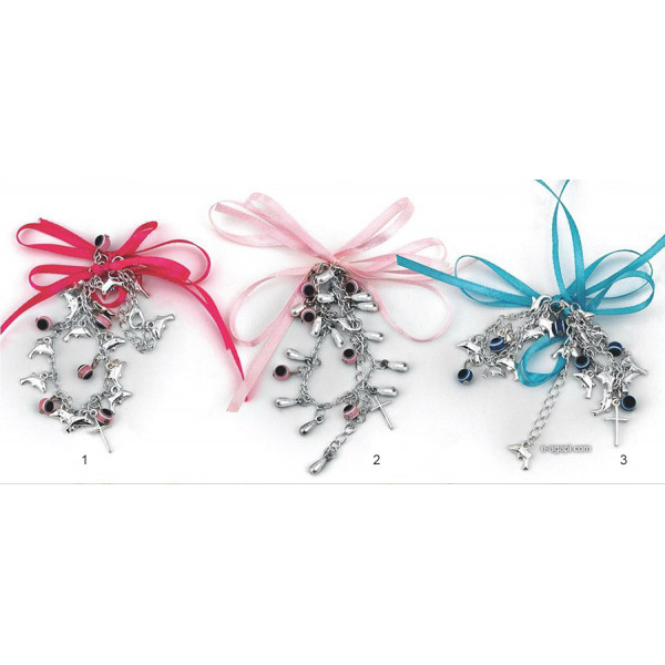 Baptism favors Greek martyrika cross witness bracelets boys and girls theme charms