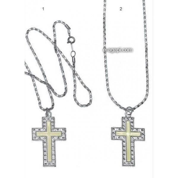 Baptism favors martyrika cross witness pendants for boys and girls silver